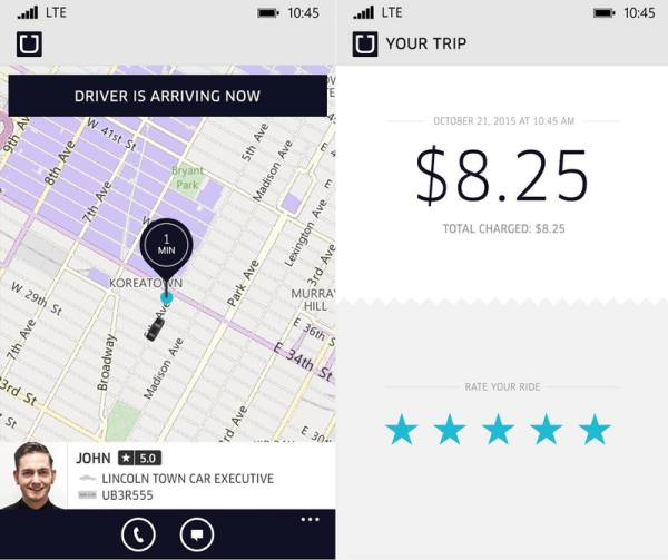 Uber Car Rates >> On-demand ride service Uber is now available for Windows Phone