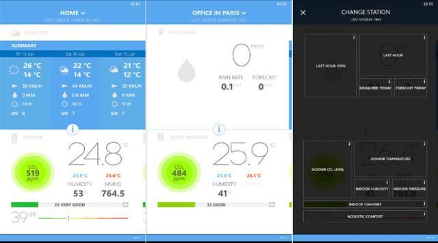 netatmo weather station application for windows phone