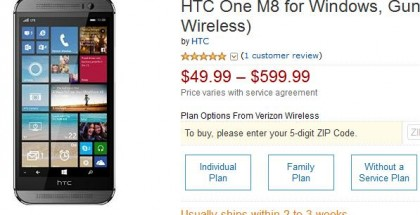 HTC One M8 for Windows from Amazon