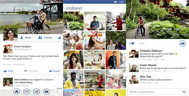Facebook App for WIndows Phone August 2014