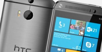 HTC One windows phone mock-up