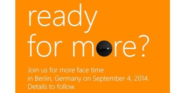 Microsoft IFA 2014 Press invite Sept.4