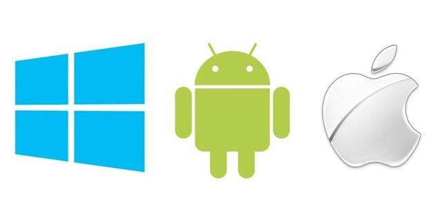 windows vs Android vs iphone ios