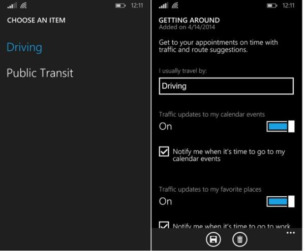 Getting around Public Transit Cortana