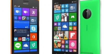 Nokia Lumia 830 and Lumia 730/735