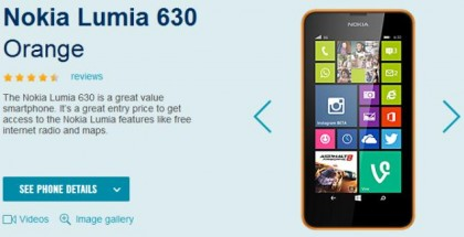 Lumia 630 for just £90 from Carphone Warehouse