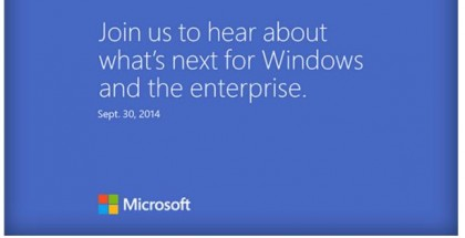 Microsoft press event September 30 Windows 9 threshold