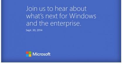 Microsoft press event September 30 Windows 9 threshold