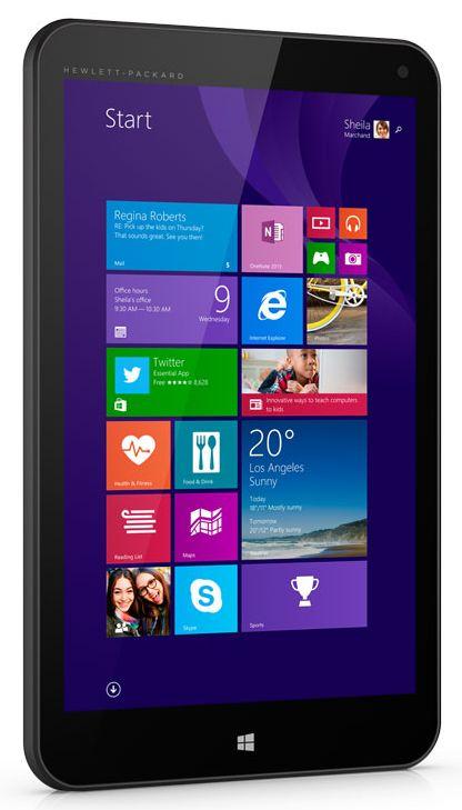 HP Stream 8 inch tablet on Windows 8,1