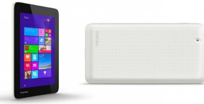 Toshiba Encore Mini tablet rear and front