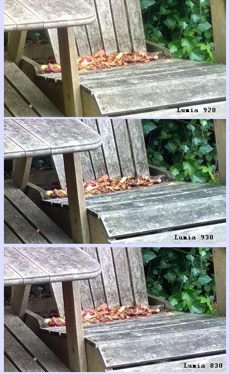 Nokia Lumia 830 camera vs Lumia 920 and 930