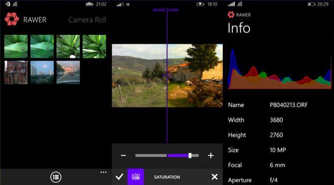 RAWER app screens