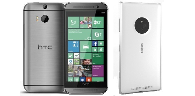 Nokia Lumia 830 vs HTC One M8 for Windows (AT&T network)