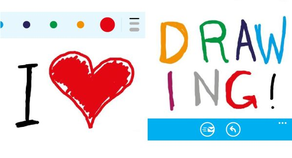 skype drawing function for windows phone