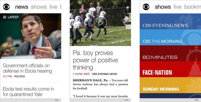 CBS News app for Windows