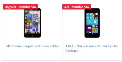HP and LUmia 635 deals at Microsoft Store