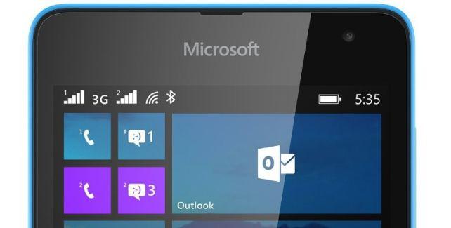 Microsoft Lumia front logo