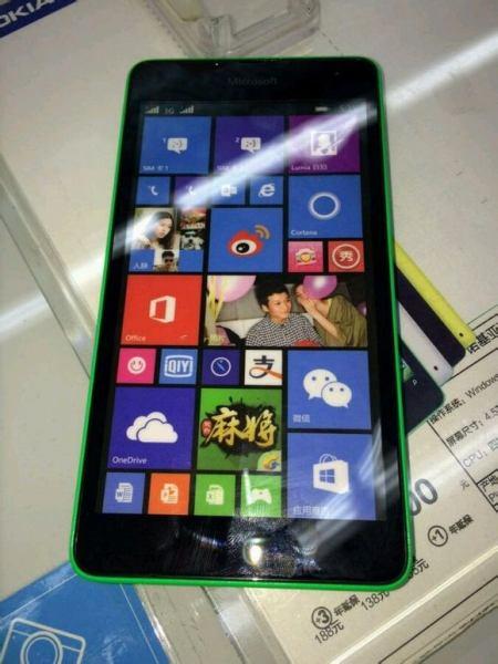 Microsoft Lumia 535 front leak