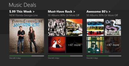 Music Deals app for Windows devices