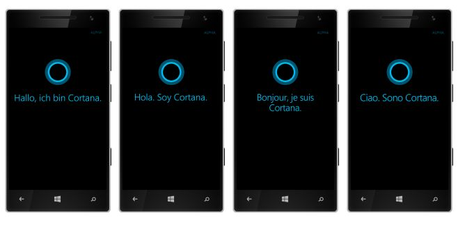 Cortana assistant available in Europe