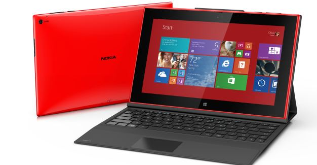 Nokia Lumia 2520 tablet running Windows RT