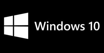 Windows 10 logo black
