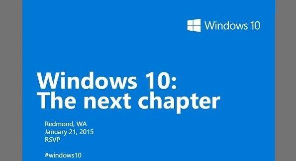 Windows 10 next chapter January 21 2015