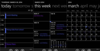 Update to Calendar app January 2015