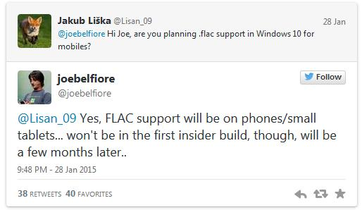 FLAC support windows 10