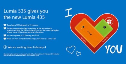 Lumia 435 535 promotion Italy Love