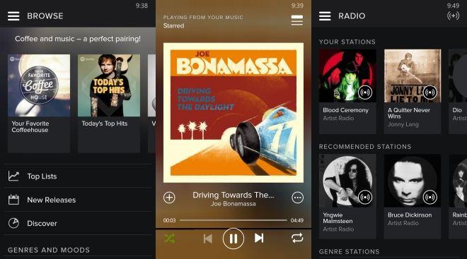 Spotify 5.0 user interface