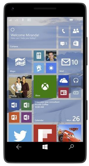 start screen on Windows 10 for phones