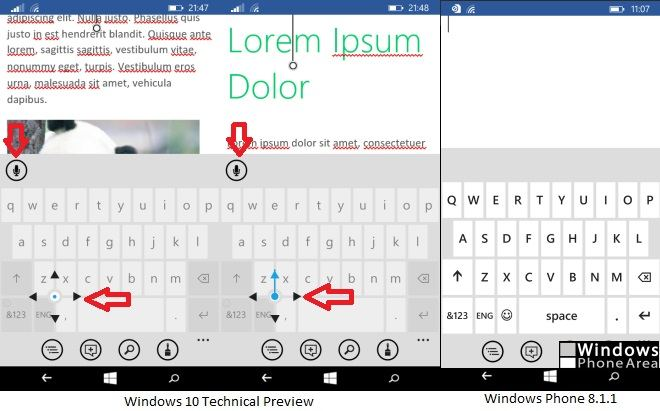 Windows 10 Technical Preview keyboard