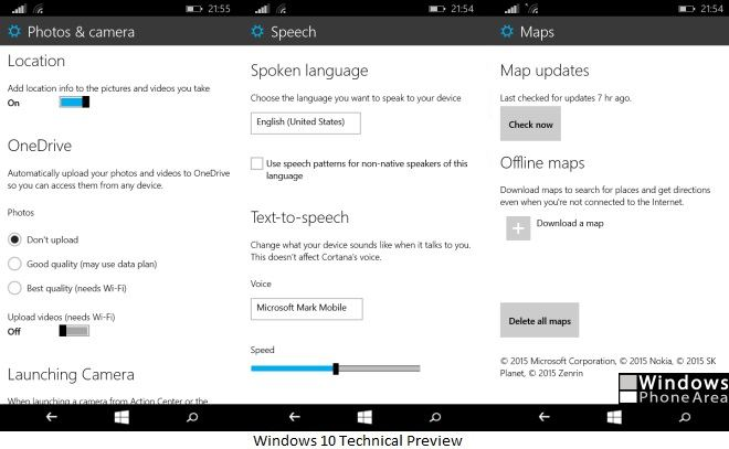New Settings Windows 10 Technical Preview