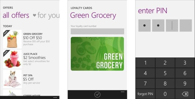 Softcard Payments windows phone