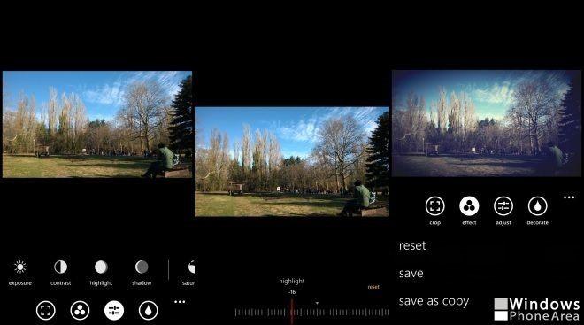 Camera360 Sight editing