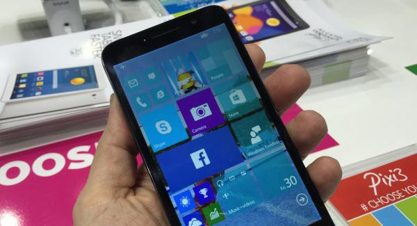 Alcatel Pixi 3 Windows 10 for Phones