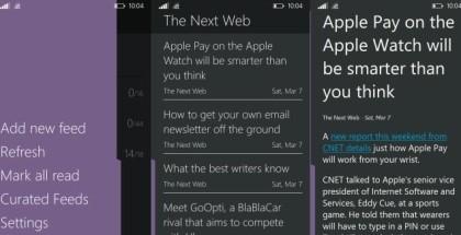 Fedora Reader app Windows Phone 2015