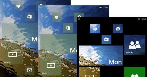 WIndows 10 for Phones Live Tiles