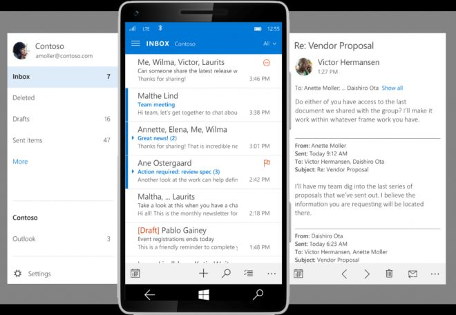 outlook app mail client for phones