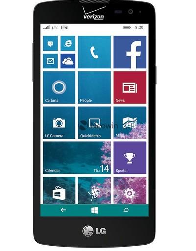 LG Windows Phone 8.1 render