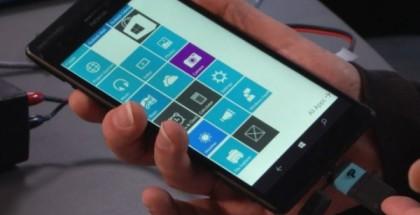 Windows 10 prototype with USB on the Go