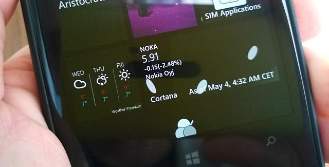 Cortana Live Tile windows phone lumia 1020 Nokia