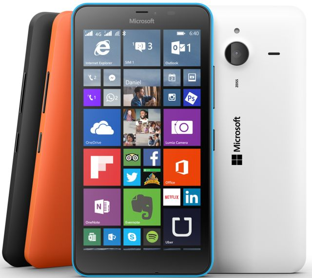 Microsoft Lumia 640 XL front and back