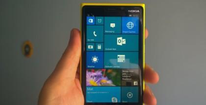 WIndows 10 mobile start Lumia 920