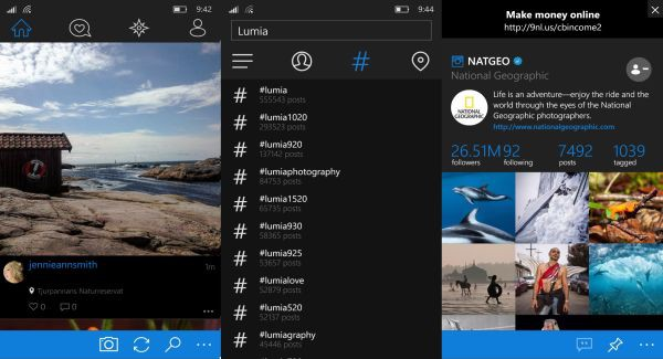 Instagram на windows 10