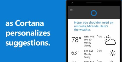 Cortana on Windows 10