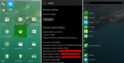 Windows 10 Mobile Build 10158 test