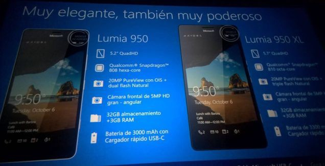 A secret presentation reveals Lumia 550, 950 & 950 XL