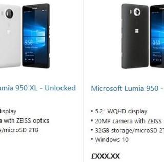 Lumia 950 store